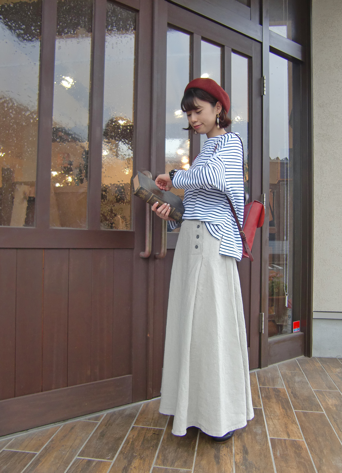 ロングパネルスカート